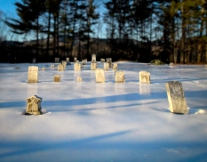 Cemetery, Gilead, Maine, December 2016